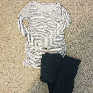 Liz Lange Maternity Long Sleeve Shirt
